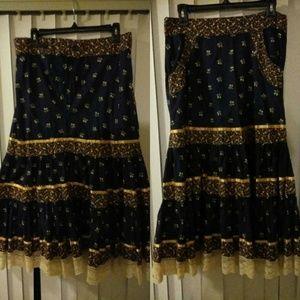 Vintage Jessica Gunnies Prairie Skirt Gunne Sax XL